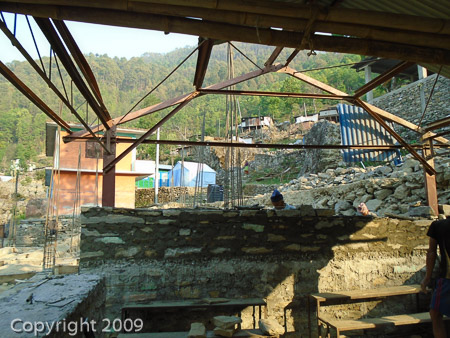 Rebuilding the Seti Devi school