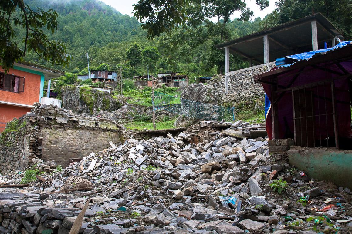 Seti Devi school destroyed